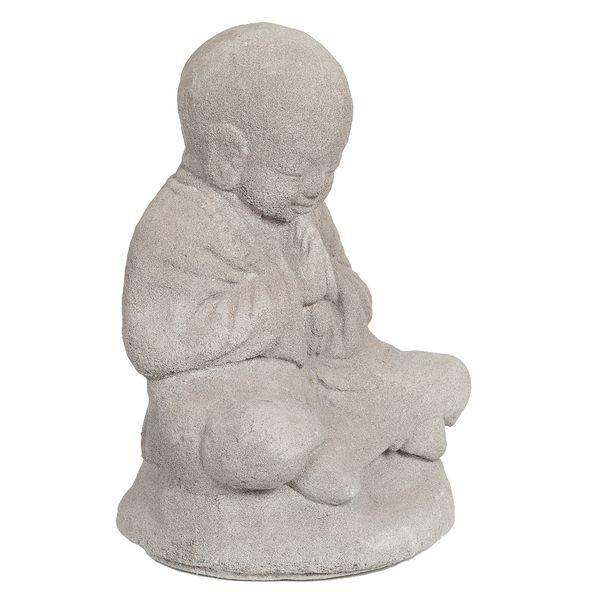 Buddha Figur BERDOA ca. H30cm Grau Zement – Bild 1