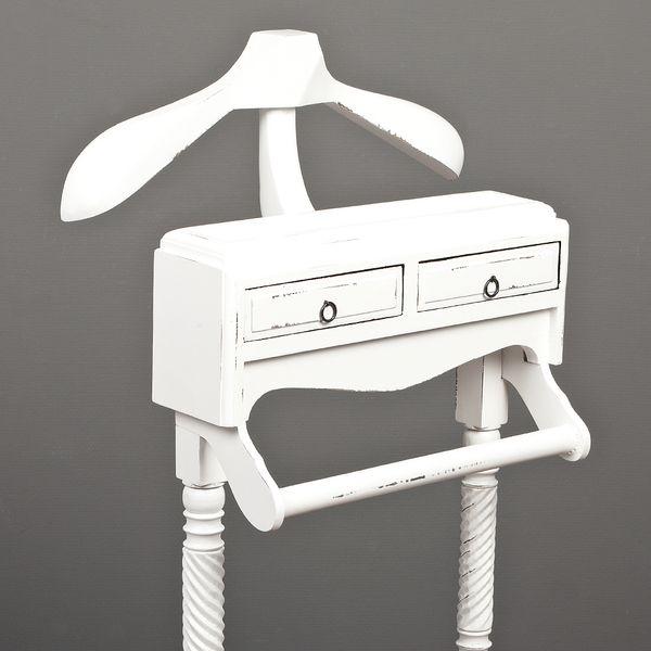 Stummer Diener GENY Antik-Weiß Mahagoni ca. H125cm – Bild 3