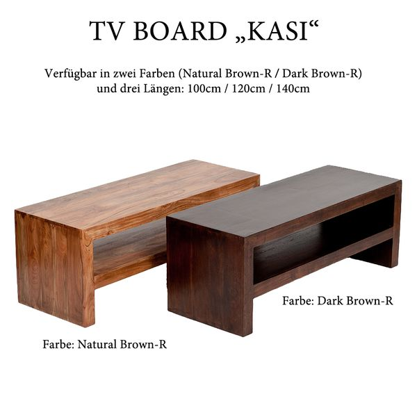 TV-Board KASI Natural-Brown-R  ca. L100cm Akazie – Bild 4