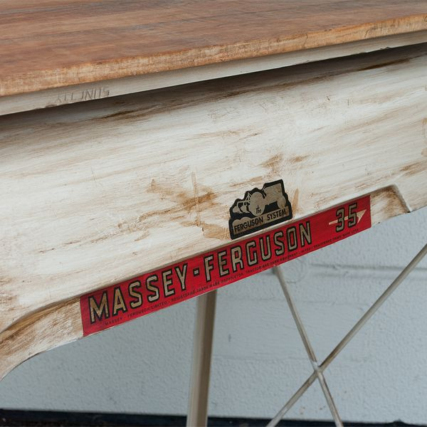Bar Tresen TRACTOR White Antique ca. L125cm Konsolentisch – Bild 5