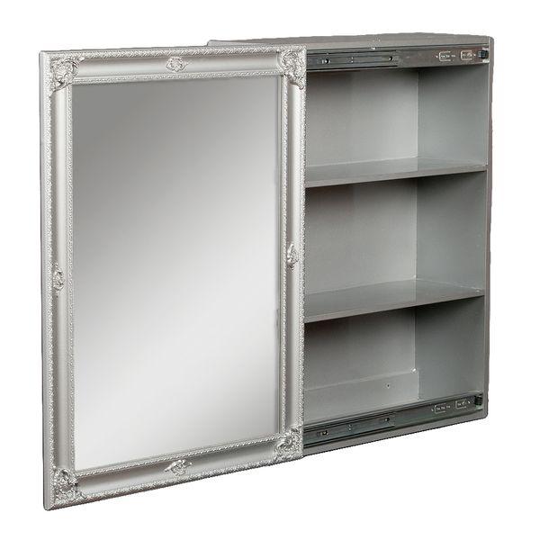 Spiegelschrank MARA Silber Grau ca. 60x80cm – Bild 2