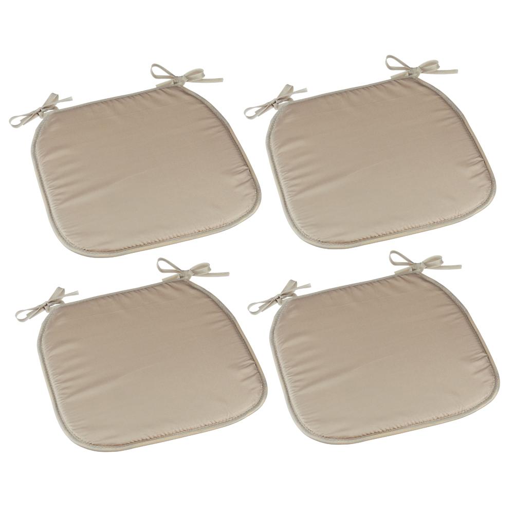 4tlg Sitzauflagen-Set BASIC Beige ca 35x35cm Polyester Sitzkissen Stuhlkissen