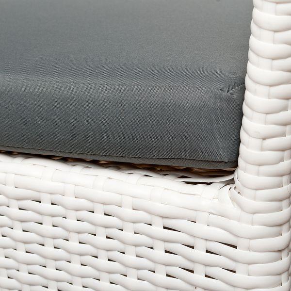 2tlg. Set Polyrattan Sessel AMAR Weiß – Bild 2
