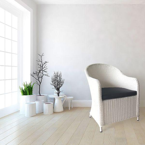 Polyrattan Stuhl ADAR Weiß – Bild 4