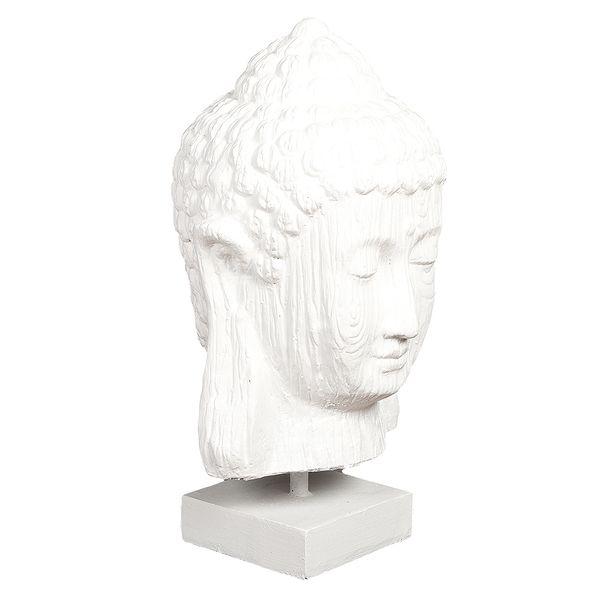 Buddha Kopf GLOWA ca. H70cm White Wash – Bild 1