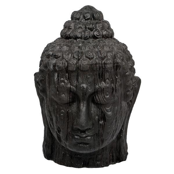 Buddha Kopf BESAR-XXL ca. H170cm Schwarz – Bild 2