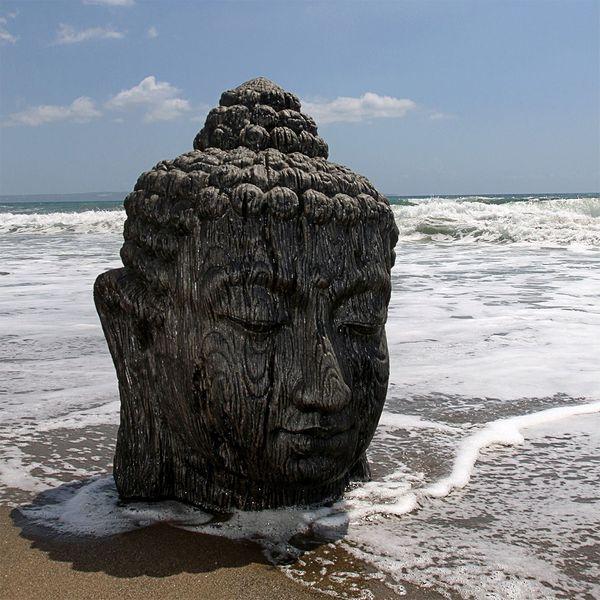Buddha Kopf BESAR-XXL ca. H170cm Schwarz – Bild 5