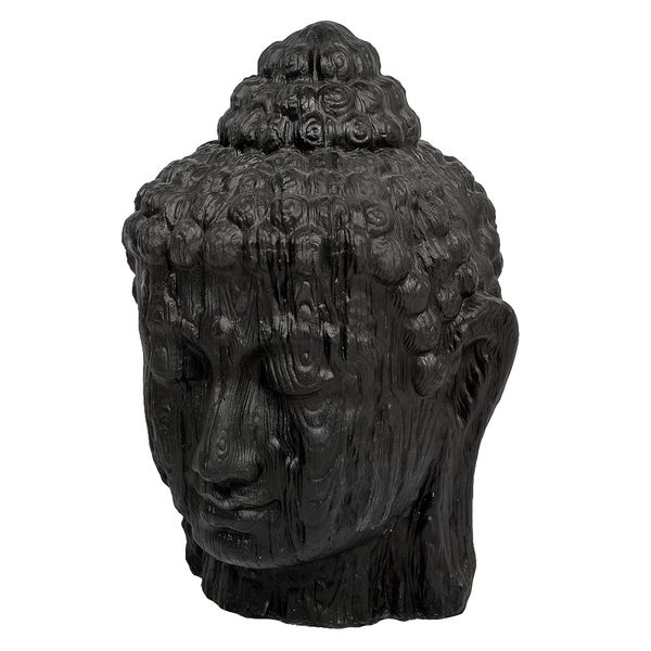 Buddha Kopf BESAR-L ca. H100cm Schwarz – Bild 1