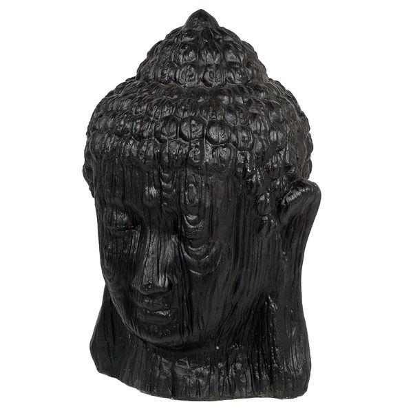Buddha Kopf BESAR-M ca. H60cm Schwarz – Bild 1