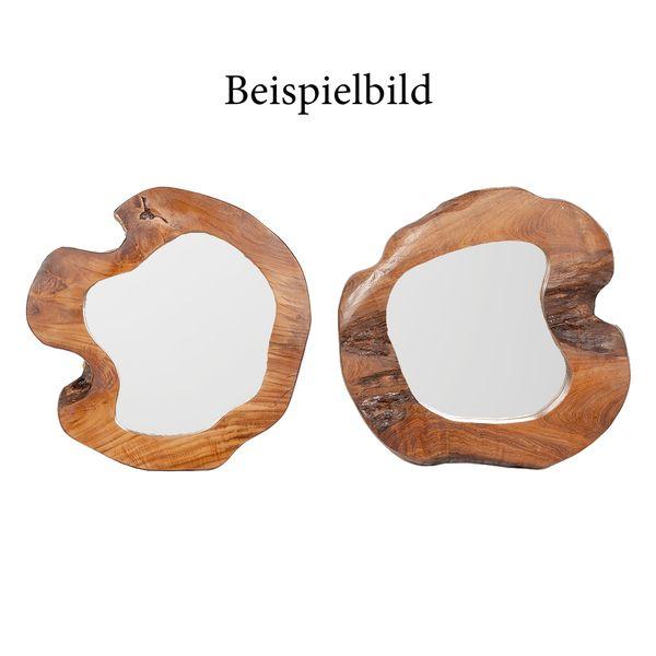 Teak Spiegel MENGIRIS ca. D50-60cm Natural – Bild 7