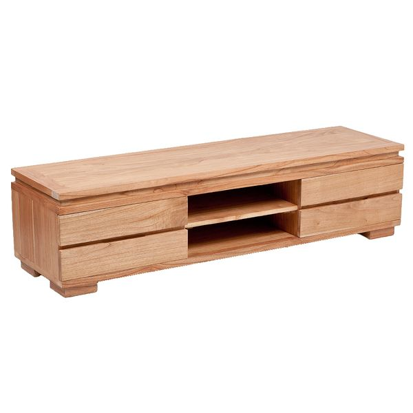 TV-Board TENSO-A Natural Mindi-Wood ca. L180cm – Bild 1
