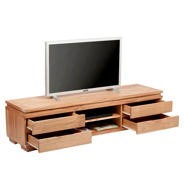 TV-Board TENSO-A Natural Mindi-Wood ca. L180cm – Bild 2