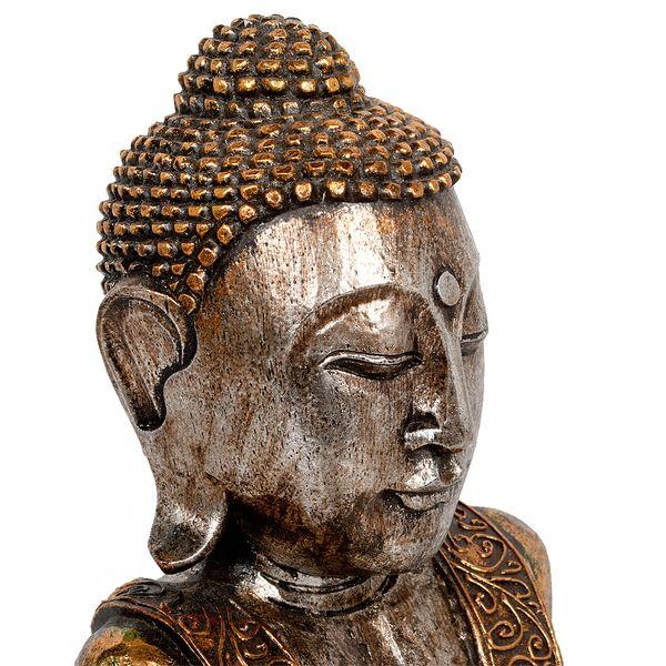 Buddha-Figur PIEDI Gold Handarbeit Albasia – Bild 3