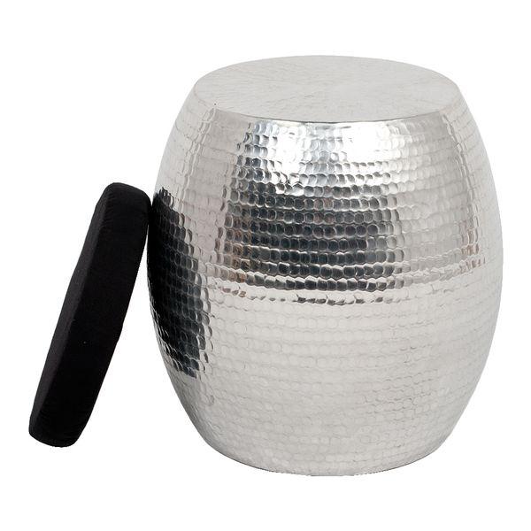 Hocker GABELLO Aluminium mit Kissen – Bild 2