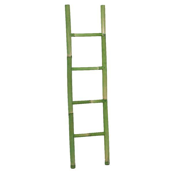 Bambus Deko-Leiter BAMBOO Green H150cm – Bild 1