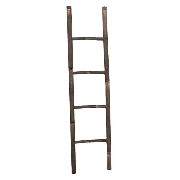 Bambus Deko-Leiter BAMBOO Black H150cm  – Bild 1