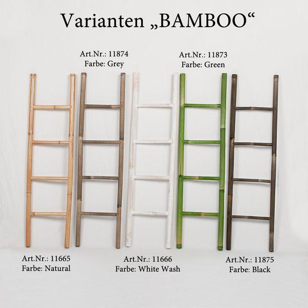Bambus Deko-Leiter BAMBOO Black H150cm  – Bild 4