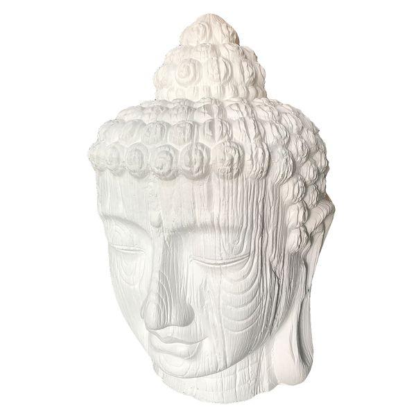 Buddha Kopf BESAR-XL ca. H140cm Weiß – Bild 1