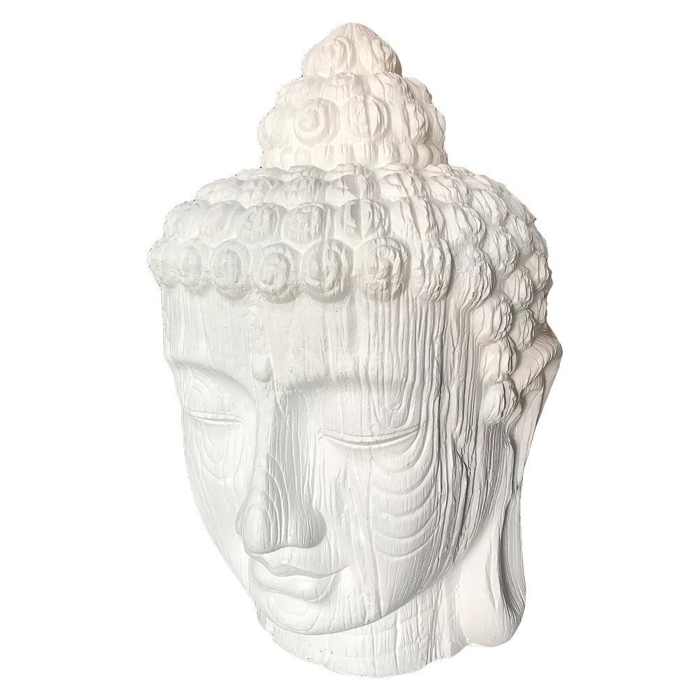 Buddha Kopf BESAR-L ca. H100cm Weiß