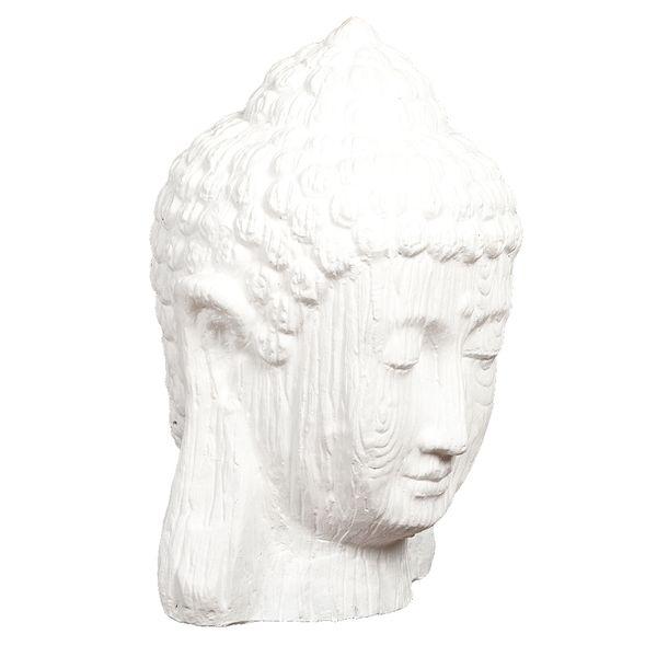 Buddha Kopf BESAR-M ca. H60cm Weiß – Bild 1