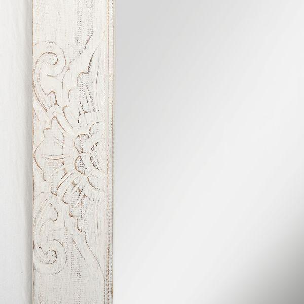 Wandspiegel MAROC White Wash Mahagoni ca. 65x120cm – Bild 5