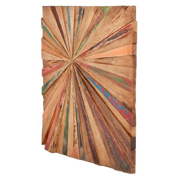 Teak Wand-Deko MATAHARI ca. 70x70cm – Bild 1