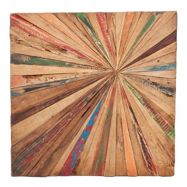 Teak Wand-Deko MATAHARI ca. 70x70cm – Bild 2