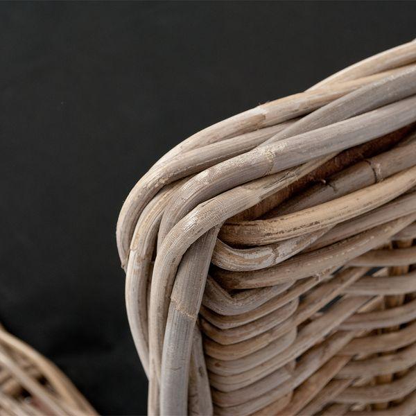 Rattan Hundekörbchen CANE ca. L95cm inkl. Kissen – Bild 2