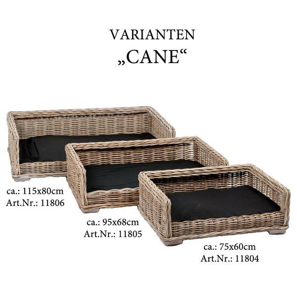 Rattan Hundekörbchen CANE  ca. L115cm inkl. Kissen – Bild 5
