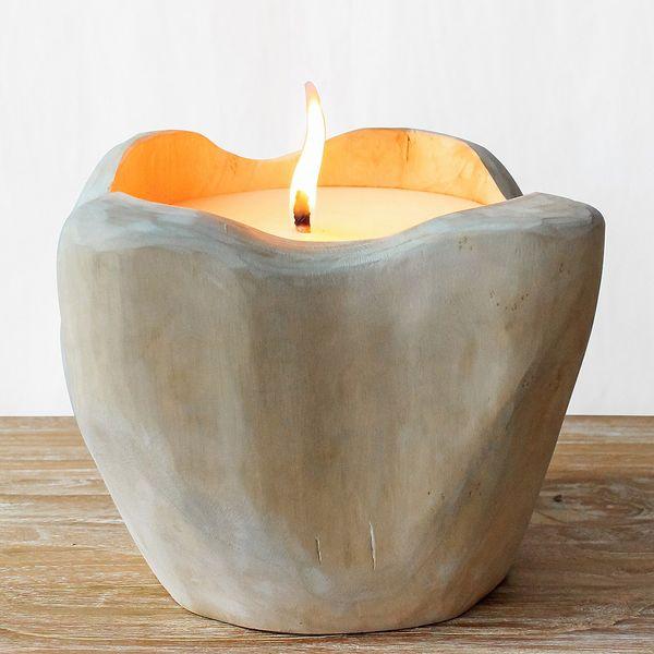 Teak Kerze CERO ca. D25cm – Bild 1