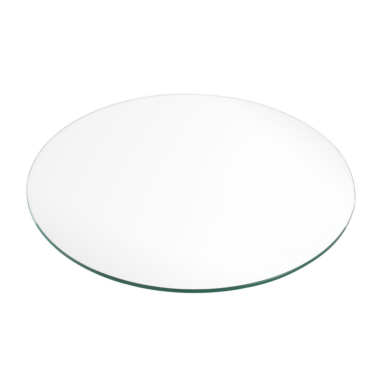 Glasplatte TERRY 30cm Rund ESG Geh/ärtetes Glas Scheibe Bodenplatte Glasscheibe