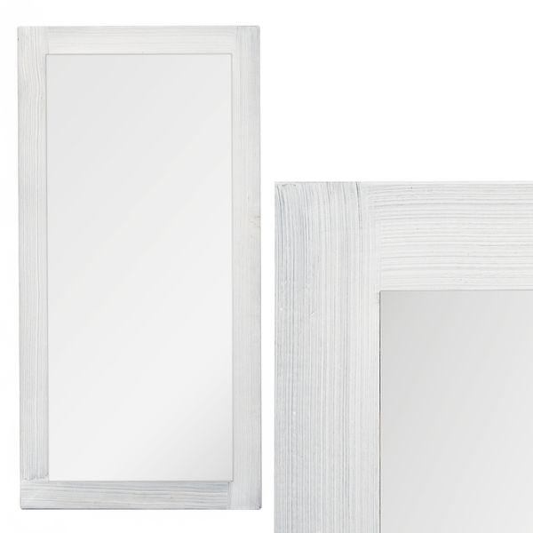 Spiegel LINDA 120x60cm White Washed Blauglockenbaum
