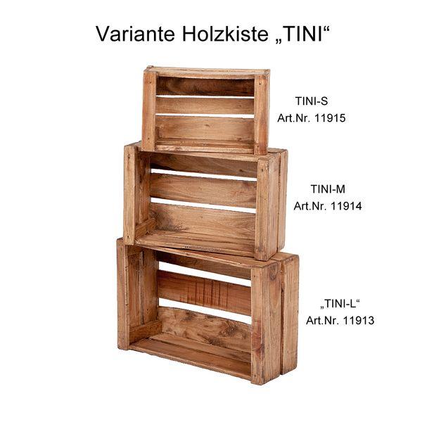 Holzkiste TINI-L Rustic-Teak – Bild 5