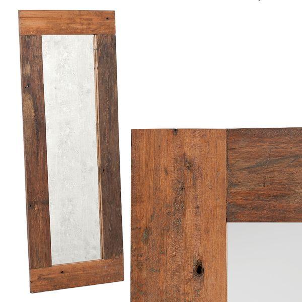 Spiegel INDO ca. 180x70cm Natural Mahagoni Teak – Bild 1