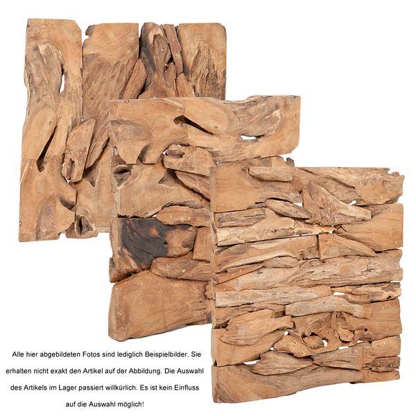 Wand-Deko MAHARANI Teak Natural ca. 90x90cm – Bild 5