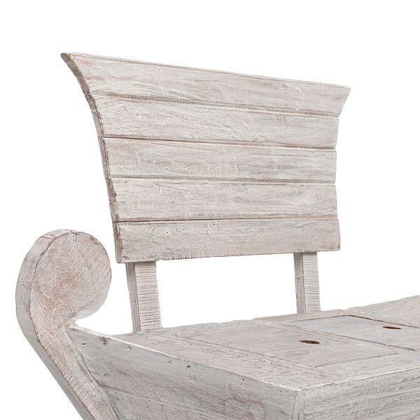 Sitzbank BARCO ca. L155cm White Wash Mahagoni Teak – Bild 5