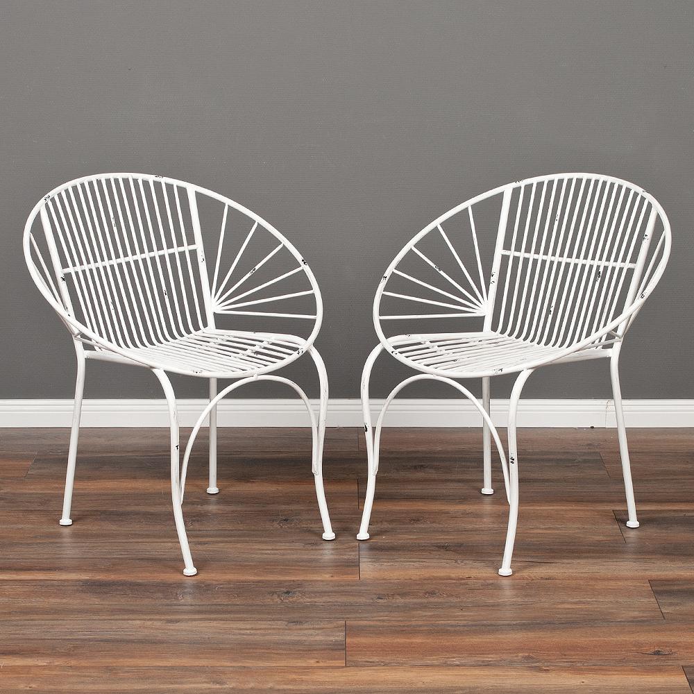 2tlg. Set Stuhl RIVER Weiß
