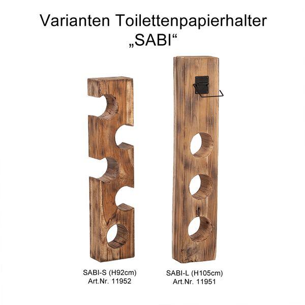 Teak Toilettenpapierhalter SABI-S ca. H92cm – Bild 7