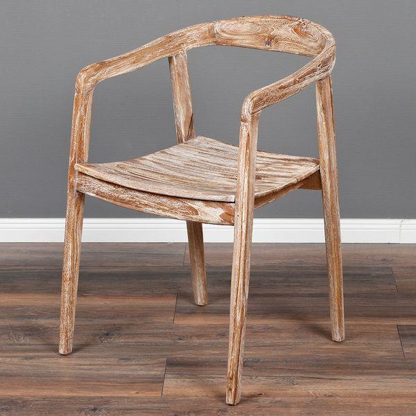 Teak Design Lounge-Stuhl FUNNO White Wash
