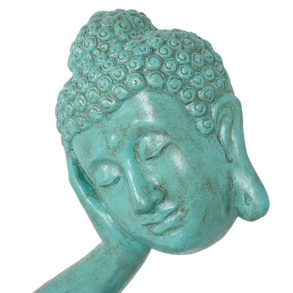 Buddha Statue RELAX ca. H72cm Antik-Grün – Bild 4