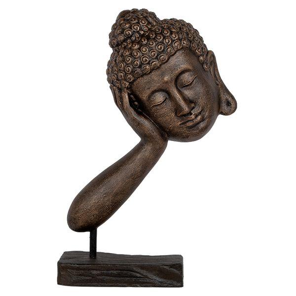 Buddha Statue RELAX ca. H72cm Gold-Schwarz – Bild 1