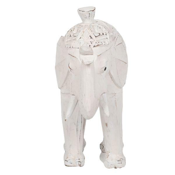 Buchstütze DUMBO-BIG White Wash Albasia – Bild 3