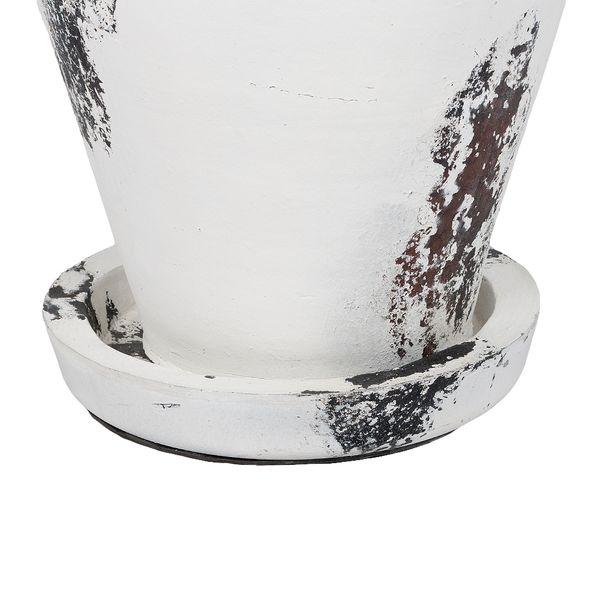 Deko-Bodenvase SANTORINI-MEDIUM ca. H100cm Antik-Weiß Terracotta – Bild 3
