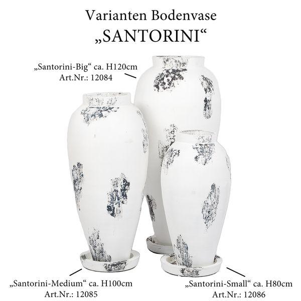 Deko-Bodenvase SANTORINI-SMALL ca. H80cm Antik-Weiß Terracotta – Bild 4