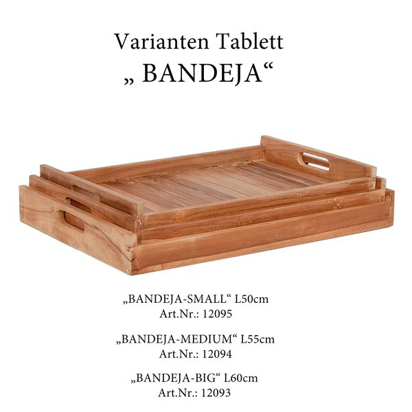 Teak Tablett BANDEJA-MEDIUM Natural ca. L57cm – Bild 4