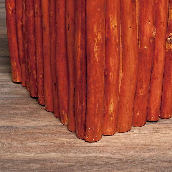 Teak Couchtisch NICO Braun inkl. Glasplatte ca. 60x60cm – Bild 4