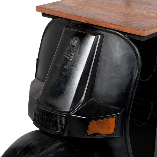 Bar Regal SCOOTER Vintage-Schwarz ca. H168cm – Bild 6