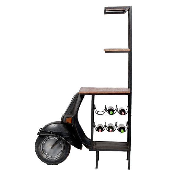 Bar Regal SCOOTER Vintage-Schwarz ca. H168cm – Bild 3