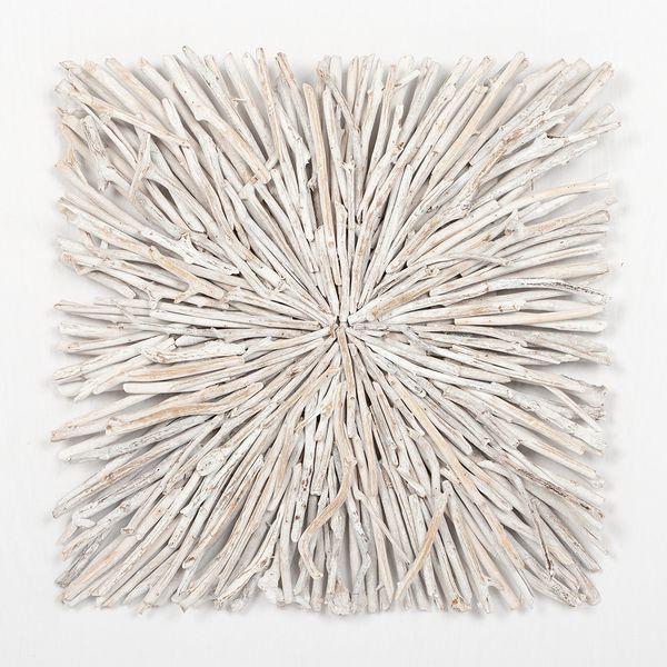 Wand-Deko-Objekt BULAT White Wash ca. L70cm Treibholz – Bild 1