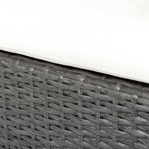 4tlg. Set Polyrattan Stuhl ADAR Anthrazit – Bild 5